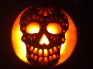 2nd Place:  Skull Pumpking