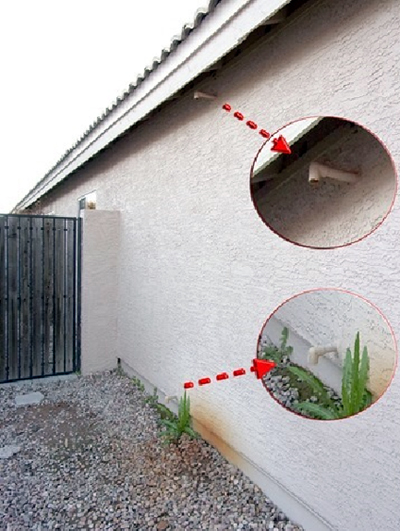 Inspect the primary and secondary drain pipes on your house monthly